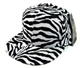 The Fly Pelican All Over Zebra Print Snapback Hat Cap