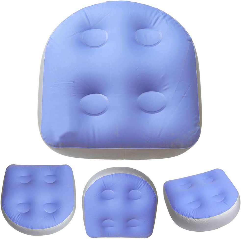 Spa Booster Seat Cushion Inflatable Massage Mat Pillow for Bathtub Anti-slip