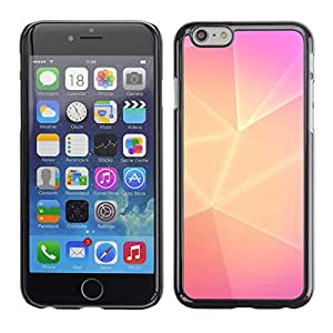 A-type Arte & diseño plástico duro Fundas Cover Cubre Hard Case Cover para Apple (5.5 inches!!!) iPhone 6+ Plus / 6S+ Plus (Polygon Yellow Pink Lines Purple Clean)
