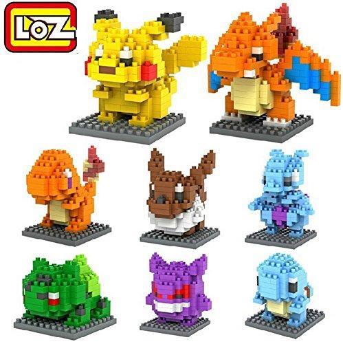 LOZ LOZOPKM08 8box Diamond 1080pcs Parent-Child Games Building Blocks Educational Toys by LOZ