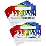Positive Postcards from Teachers to Students, 50 Cards, Motivational Notes from Teachers, Classroom Teaching Supplies for Preschool, Kindergarten, and Elementary School Teachers (Wow! Incredible Job)