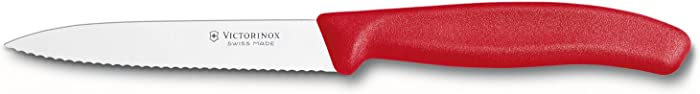 Victorinox 6.7731 6.7731US1 4 Inch Swiss Classic Paring Knife with Serrated Edge, Spear Point, Red, 4""