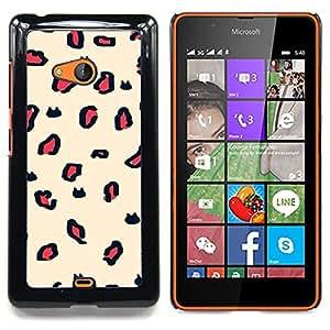 For Nokia Lumia 540 Case , Patrón de piel animal textura de la piel beige - Diseño Patrón Teléfono Caso Cubierta Case Bumper Duro Protección Case Cover Funda