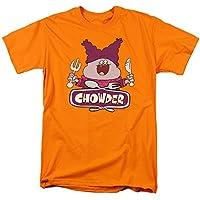 Trevco Men's Chowder Short Sleeve T-Shirt, Orange, Medium