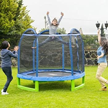Bounce Pro 7-Foot My First Trampoline Hexagon (Ages 3-10) for Kids