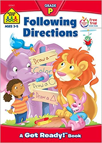 amazon following directions get ready books barbara gregorich