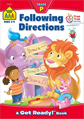 Following Directions Workbook Grade P (Get Ready Books)