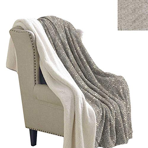 Jaydevn Beige Lightweight Blanket Circular Composition Lace Flannel Throw Blanket Lightweight Soft Warm Blanket 60x32 Inch