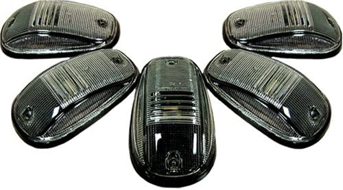 B000EEZI4K Recon 264145BK Smoked Cab Roof Lights 1999-2002 Dodge Truck (5-Piece Set) 51d2E6Jg2XL.