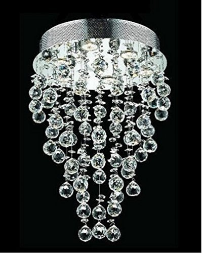 Crystal Faceted Sphere Swarovski (Decomust® Drops of Rain Design 7-Light 24
