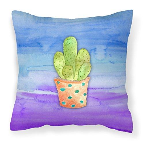 Caroline's Treasures BB7363PW1818 Cactus Blue and Purple ...