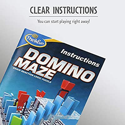 ThinkFun Domino Maze STEM Toy and Logic Game for Boys and Girls Age 8 and Up - Combines the Fun of Dominos With the Challenge of a Puzzle: Toys & Games