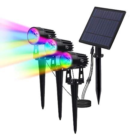 FUTER Led Proyector Solar RGB Luces al Aire Libre ...