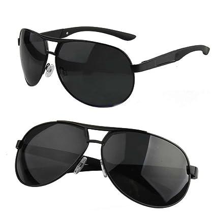 d37413b6e989 Estone Men Polarized Sunglasses Aviator Driving Outdoor Sports Eyewear Sun  Glasses (Black)