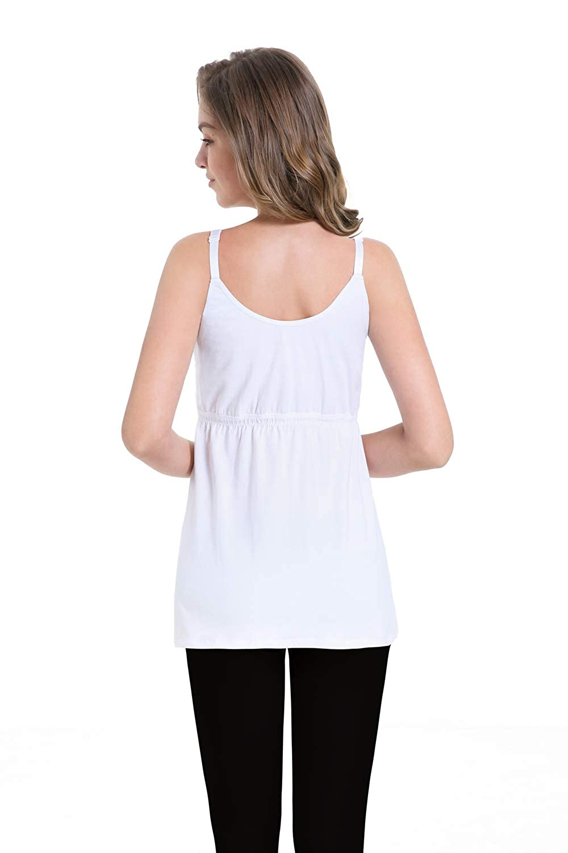 ZUMIY Camiseta para Mujer Nursing Tank Top Breastfeeding Tops Comfy Pregnancy Maternity Clothes