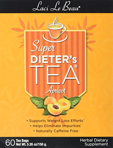 Dieters Super Apricot (SUPER DIETER'S TEA APRICOT 60 Tea Bags Net Wt 5.26 oz./150 g)