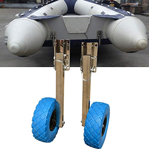 (TFCFL Boat Transom Launching Wheels for Inflatable Aluminum Trolley 10'' x 3 '' Tires for Inflatable Boats & Aluminum Boats)