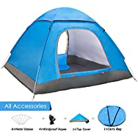 Amagoing 2-4 Person Family Camping Tent Portable...