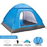 Amagoing 2-4 Person Family Camping Tent Portable Automatic Pop Up Tent Shelter with Carry Bag for Backpacking,Great for Picnic,Hiking,Fishing,Outdoor Use