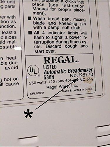 Nuevo modelo de amasar pala para Regal # K6770 cocina Pro ...