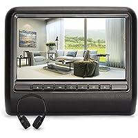 NAVISKAUTO 10.1 Inch TFT LCD Wide Digital Screen Universal Car Headrest DVD Player Multimedia Player Monitor with IR Headphone-Black (CH1005B+Y0101)
