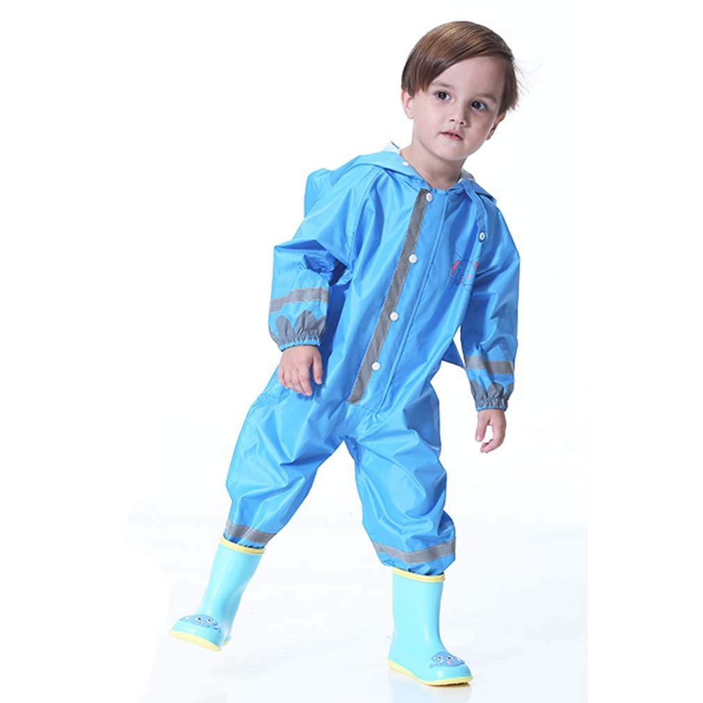 mama stadt Kids All in One Waterproof Suit,Unisex Rain Suit Boys and Girls for Outdoor Play 80-130CM