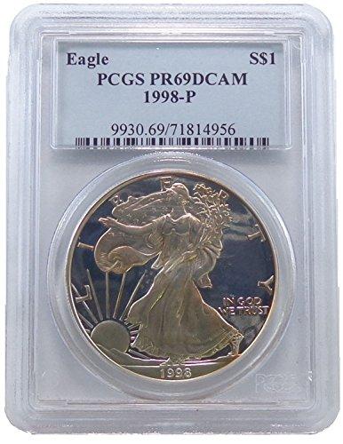 1998 P American Eagle Dollar PR69 PCGS