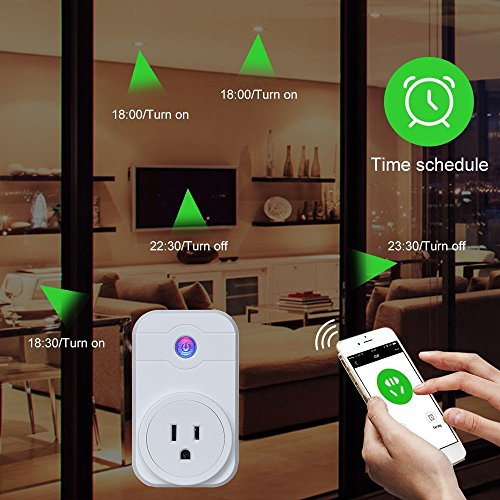 GOSTAR Smart WiFI Plug Wireless Timer Socket Outlet Remote Control Electronics for Household Appliances Work with Amazon Echo Alexa Google Home by GOSTAR (Image #2)