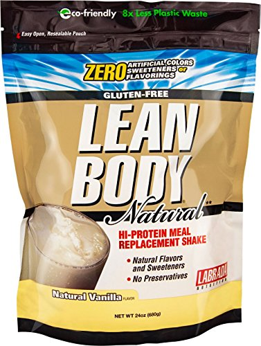 Labrada Nutrition Lean Body Hi Protein Meal Replacement Shake, Natural Vanilla, 24 Ounce - Labrada Lean Body Protein Shake