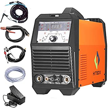 200A TIG Inverter Welder ACDC Pulse Tig Welding Machine 220V with Tig Torch Weld Aluminum Steel Metal Plate