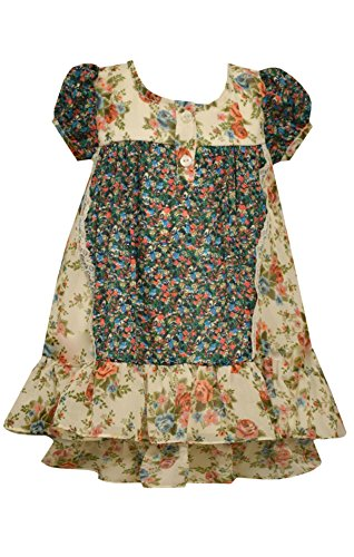 Bonnie Jean Ivory Dress - Bonnie Jean mixed floral printed chiffon