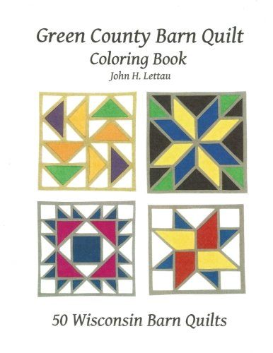 Green County Barn Quilt Coloring Book