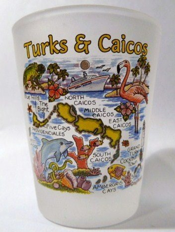 Turks & Caicos Map Shot Glass turksmp