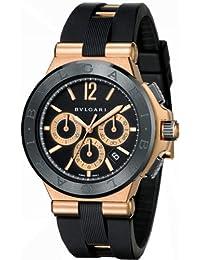 New Mens Bvlgari Diagono 18K Rose Gold Automatic Chronograph Watch DGP42BGCVDCH
