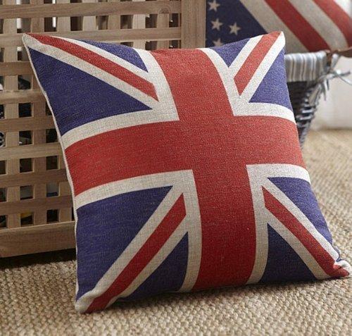 British Vintage Style Union Jack Flag Throw Pillow Case, Pil