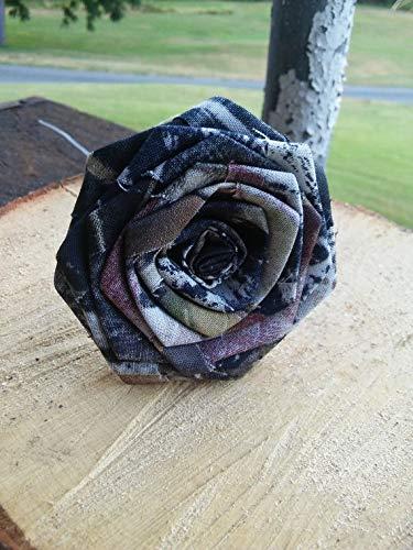 (6 Camo Flowers Single Stem DIY Bridal Build A Bouquet Camouflage Wedding Rose Centerpiece)