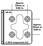 magnaroute HP-4S Rack Mount Kit compatible with