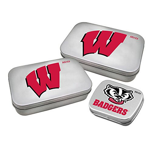 - Worthy Promotional NCAA Wisconsin Badgers Decorative Mint Tin 3-Pack with Sugar-Free Mini Peppermint Candies
