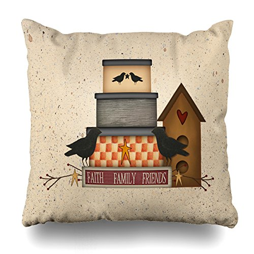 Pakaku Throw Pillows Covers For Couch/Bed 20 x 20 inch,Primitive Faith Family Friends Home Sofa Cushion Cover Pillowcase Gift Decorative Hidden Zipper Cotton And Polyester Summer Beach Sunlight by Pakaku