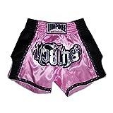 Lumpinee Retro Muay Thai Kick Boxing Shorts : LUMRTO-003-Pink