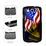 BleuReign(TM) Romania And USA Mixed Flag Plastic Phone Case Back Cover Samsung Galaxy S3 I9300