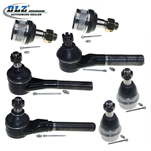 (DLZ 7 Pcs Front Suspension Kit-Lower Upper Ball Joint Tie Rod End Compatible with 1991-1995 Jeep Wrangler 1997-2006 Jeep Wrangler 1991-2001 Jeep Cherokee 1991-1992 Jeep)