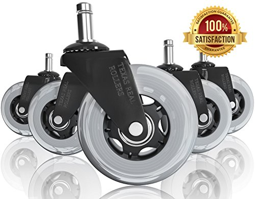 """Texas Real Rollers Office Chair Caster Wheels 