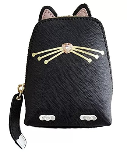 Kate Spade Jazz Things Up Black Cat Leather Coin Purse (Kate Spade Black Cat)