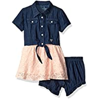 GUESS Baby Girls' Denim and Tulle Dress