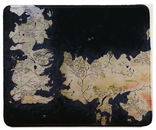 12x10 Inch Game of Throne World Map Fantasy Mousepad Large Mouse Pad Mouse mat Waterproof