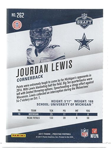 fbfeefc4864 Amazon.com: Football NFL 2017 Prestige #262 Jourdan Lewis Rookies RC  Cowboys: Collectibles & Fine Art