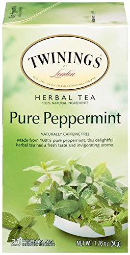 (Twinings of London Pure Peppermint Tea Bags, 25 Count (Pack of 6))