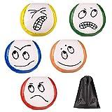 Provone Beginners Juggling Balls Cute Facial Expressions Beginners Juggling Balls with a Bag for Juggle Toy Game