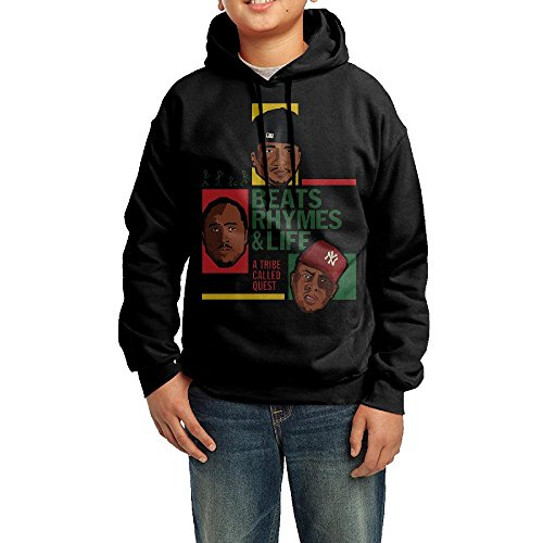 GGDD Boys & Girls The Travel Of A Tribe Called Quest Camping Casual Style Hoodie Sweatshirt Casual Style M Black - Tribe Called Quest Costume